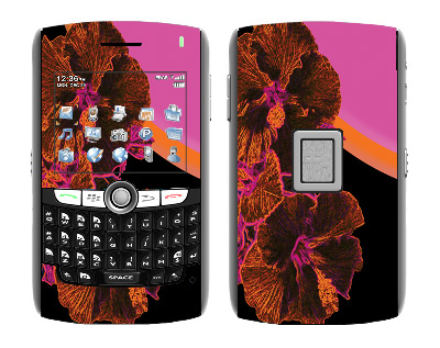 BlackBerry World 8800 Skin :: Cosmic Flowers 3