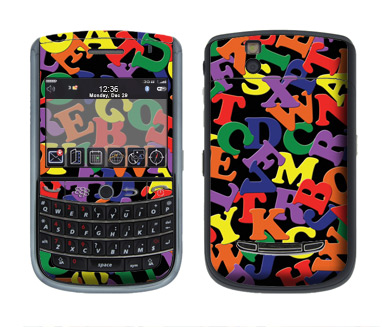 BlackBerry Tour 9630 Skin :: Alphabet Soup