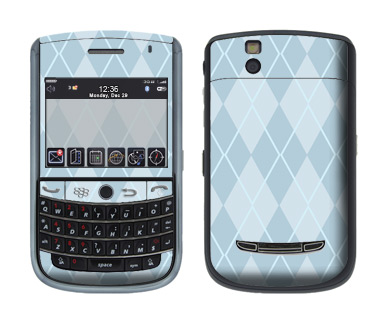 BlackBerry Tour 9630 Skin :: Argyle Blue