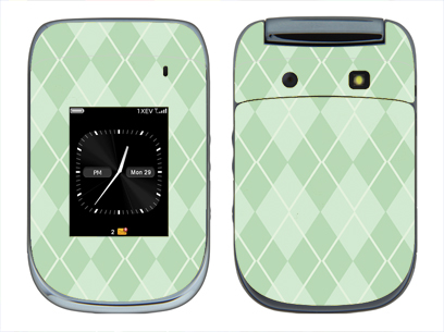 BlackBerry Style 9670 Skin :: Argyle Green