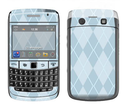 BlackBerry Bold 9700 Skin :: Argyle Blue