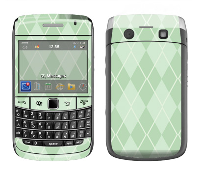 BlackBerry Bold 9700 Skin :: Argyle Green