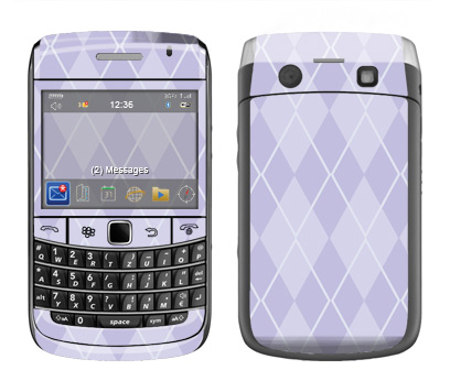 BlackBerry Bold 9700 Skin :: Argyle Purple