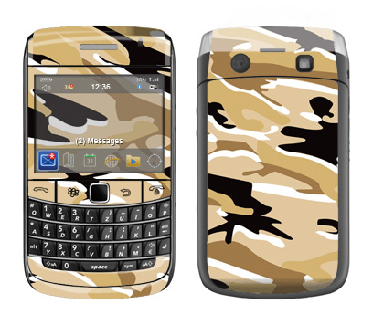 BlackBerry Bold 9700 Skin :: Camo Desert