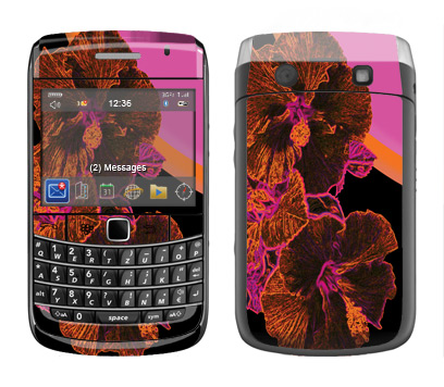 BlackBerry Bold 9700 Skin :: Cosmic Flowers 3