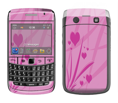 BlackBerry Bold 9700 Skin :: Floating Hearts