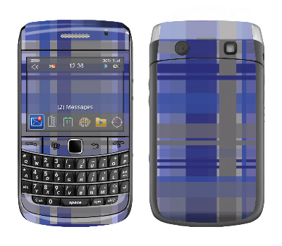 BlackBerry Bold 9700 Skin :: Oceans Deep Plaid