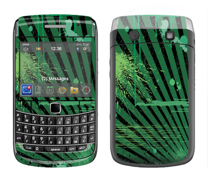 BlackBerry Bold 9700 Skin :: Splatter Green