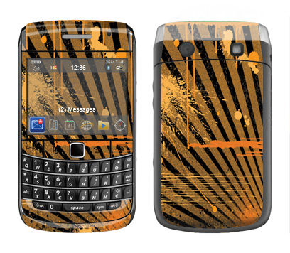 BlackBerry Bold 9700 Skin :: Splatter Orange