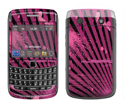 BlackBerry Bold 9700 Skin :: Splatter Pink