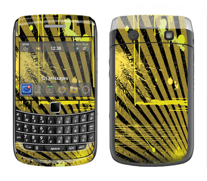 BlackBerry Bold 9700 Skin :: Splatter Yellow