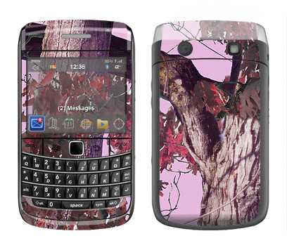 BlackBerry Bold 9700 Skin :: Tree Camo Pink