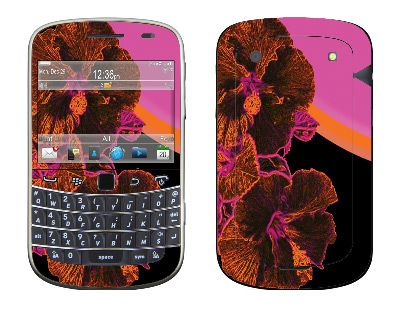 BlackBerry Bold 9930 Cell Phone Skin :: Cosmic Flowers 3