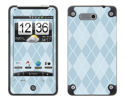 HTC Aria Skin :: Argyle Blue