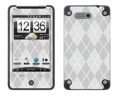 HTC Aria Skin :: Argyle Gray