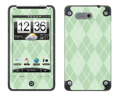 HTC Aria Skin :: Argyle Green