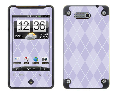 HTC Aria Skin :: Argyle Purple