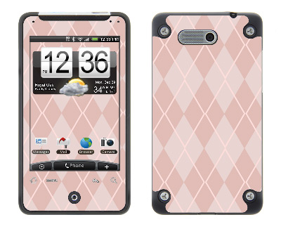 HTC Aria Skin :: Argyle Red
