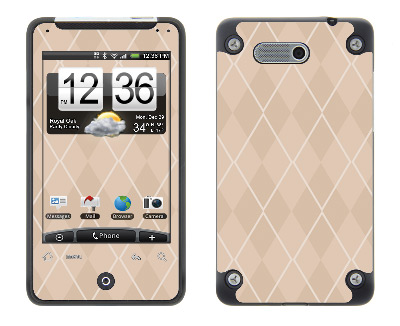 HTC Aria Skin :: Argyle Tan