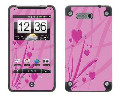 HTC Aria Skin :: Floating Hearts