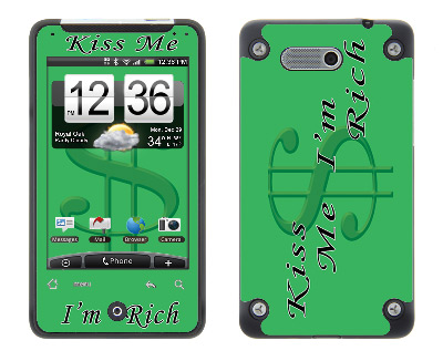HTC Aria Skin :: Kiss Me Rich