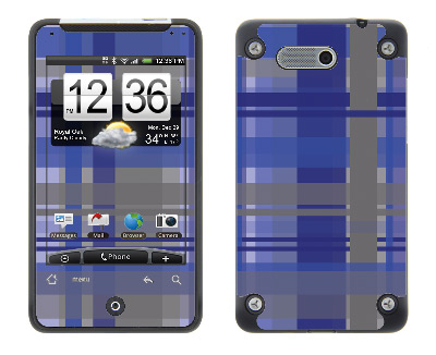 HTC Aria Skin :: Oceans Deep Plaid