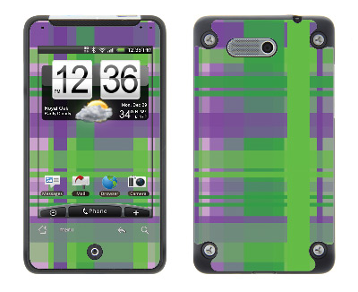 HTC Aria Skin :: Punk Rock Plaid