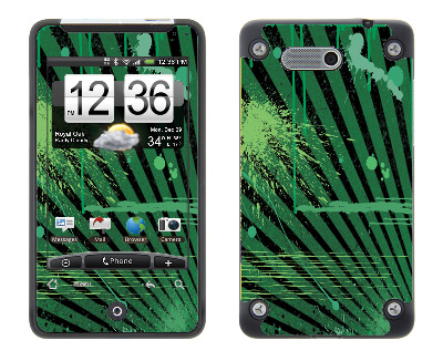 HTC Aria Skin :: Splatter Green