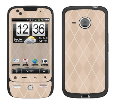 HTC Droid Eris Skin :: Argyle Tan