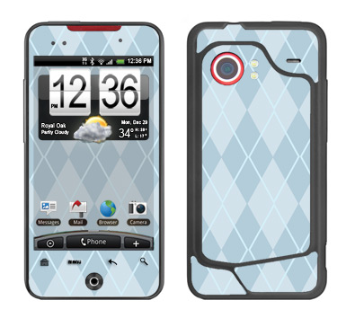 HTC Droid Incredible Skin :: Argyle Blue