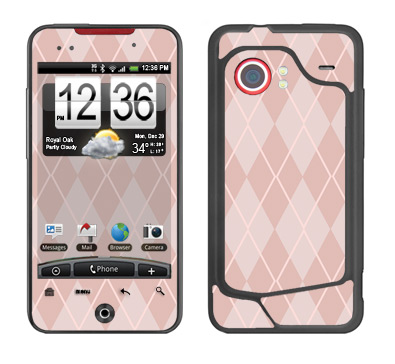 HTC Droid Incredible Skin :: Argyle Red