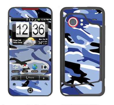 HTC Droid Incredible Skin :: Camo Blue