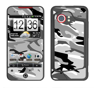 HTC Droid Incredible Skin :: Camo Snow