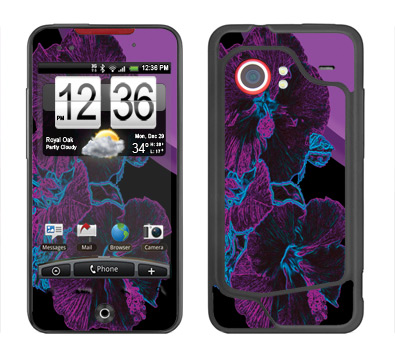 HTC Droid Incredible Skin :: Cosmic Flowers 1