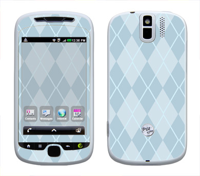 HTC myTouch 3G Slide Skin :: Argyle Blue