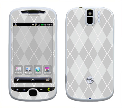 HTC myTouch 3G Slide Skin :: Argyle Gray