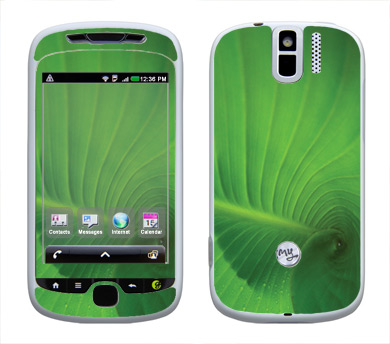 HTC myTouch 3G Slide Skin :: Spiraling Green