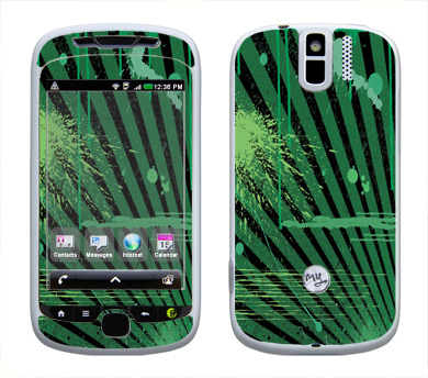 HTC myTouch 3G Slide Skin :: Splatter Green