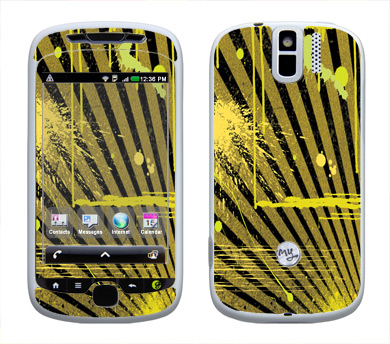 HTC myTouch 3G Slide Skin :: Splatter Yellow