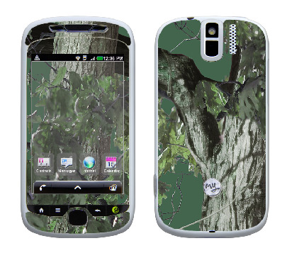 HTC myTouch 3G Slide Skin :: Tree Camo Green