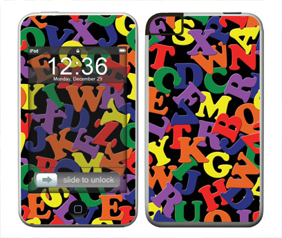 Apple iTouch (1st Gen) Skin :: Alphabet Soup