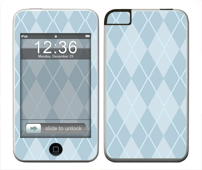 Apple iTouch (1st Gen) Skin :: Argyle Blue
