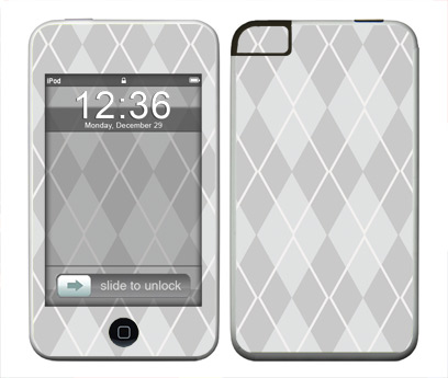 Apple iTouch (1st Gen) Skin :: Argyle Gray