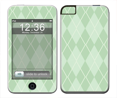 Apple iTouch (1st Gen) Skin :: Argyle Green