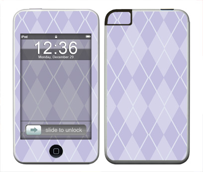 Apple iTouch (1st Gen) Skin :: Argyle Purple