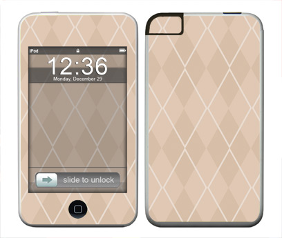 Apple iTouch (1st Gen) Skin :: Argyle Tan
