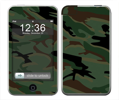Apple iTouch (1st Gen) Skin :: Camo Green
