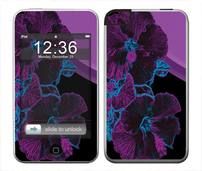 Apple iTouch (1st Gen) Skin :: Cosmic Flowers 1