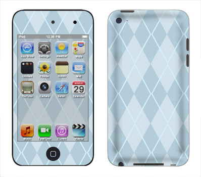 Apple iTouch 4th Gen Skin :: Argyle Blue