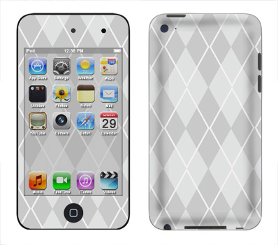 Apple iTouch 4th Gen Skin :: Argyle Gray